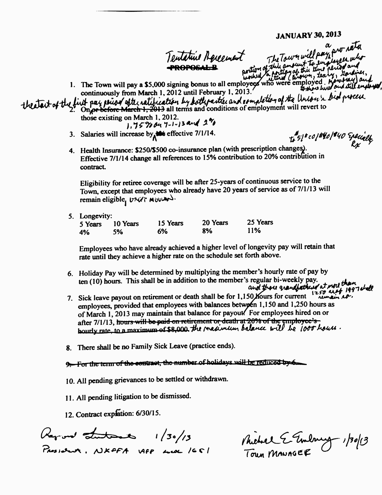 Council Vetos Firefighter Contract Agreement – Contract Agreement