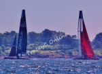 Oracle Team USA vs. New Zealand's Emirates at the 2013 America's Cup Trials - Newport, RI