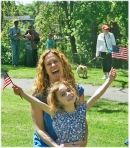 """I still don't do my hair or wear makeup,"" said Rep. Teresa Tanzi. Above, Tanzi shares a Memorial Day moment with her daughter, Delia. (Photo credit Tracey C. O'Neill 2013)"