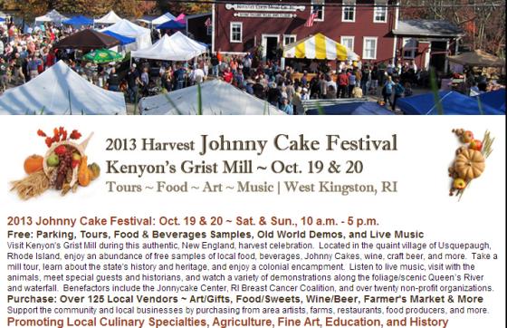 2013 Harvest Johnny Cake Festival! Kenyon Gristmill