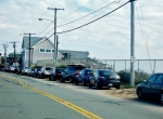The SKTC addressed the issue of possible parking expansion along Matunuck Beach Rd. (photo Tracey C. O'Neill)
