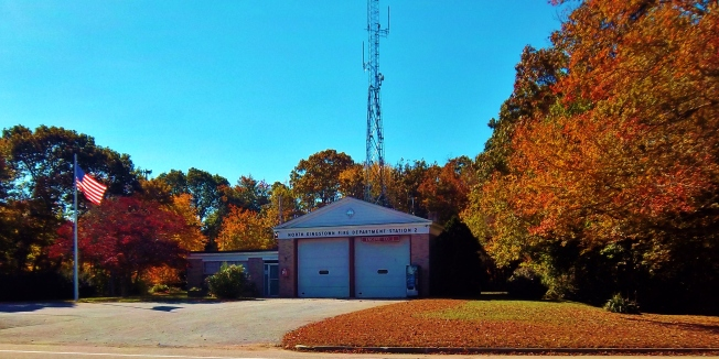 NK Station 2 sporting fall colors as the Town's firefighters await reinstatement of their prior shift structure as ordered by the SLRB.