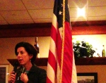 State treasurer and gubernatorial candidate, Gina Raimondo visits the Rotary Club of Westerly on Monday night. (Photos Tracey C. O'Neill)