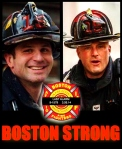 Boston Mourns the loss of two fallen firefighters, (L to R) FF Michael Kennedy and Lt. Edward Walsh