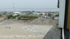 Proposed sheet pile armament location, Matunuck Beach Road, South Kingstown, June 2014. (Photo Tracey C. O'Neill)