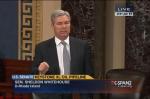 Sen. Sheldon Whitehouse presents his climate change amendment to Keystone XL Act. (Photo and video courtesy C-SPAN)