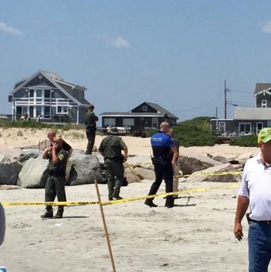 RI DEM reported an explosion at Salty Brine Beach on Saturday morning that sent a woman several feet into the air. Photo courtesy The explosion is the second incident in two days in the Port of Galilee area managed by RIDEM.  @brianl423 Twitter,