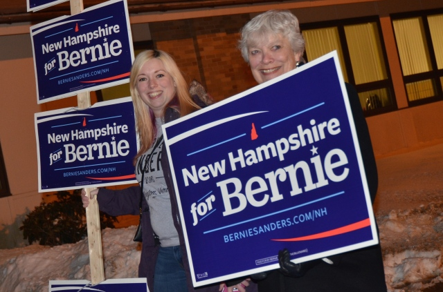 New Hampshire Primary, Bernie Sanders wins New Hampshire