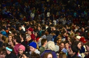 A crowd of 8,300 students and supporters came out to a spontaneous rally at UMASS Amherst on a Monday night to listen to Democratic Presidential Candidate Bernie Sanders.
