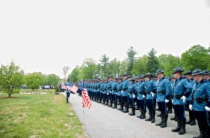 A sea of blue turns out as fallen Auburn police officer is
