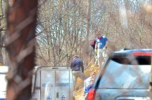 The FBI unearthed the remains of former New England La Cosa Nostre Associate, Stephen DiSarro on March 31, 2016 on the grounds of a mill complex in Providence, RI. Photo Tracey C. O'Neill