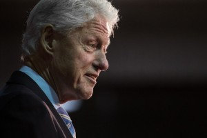 Fmr. President Bill Clinton was seen inside polling venues in Massachusetts on Super Tuesday where he engaged voters and volunteers. The Clinton camp was reportedly warned about his actions and possible election rules violations. Photo by Sean Rayford/Getty Images